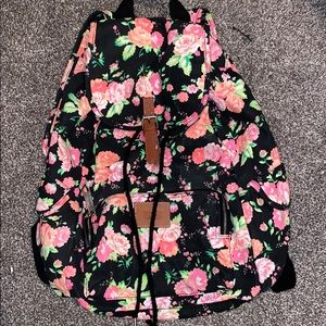 PINK Flowered backpack